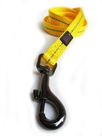 Dog's Life - Reflective Supersoft Webbing Leash - Yellow - Medium