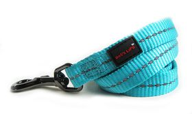 Dog's Life - Reflective Supersoft Webbing Leash - Turquoise - Large