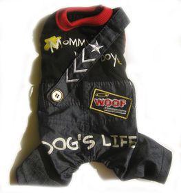 Dog's Life - Mommy's Little Boy Denim Dungaree Black - Small