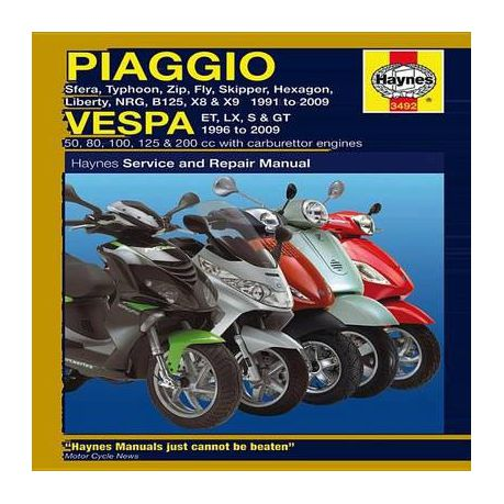 S & GT 1996 to 2009 Typhoon NRG Piaggio Vespa: Sfera Fly Liberty ...