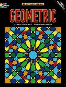 Geometric Stained Glass Coloring Book