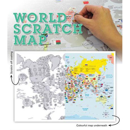 scratch map south africa Scratch Map World 2014 Buy Online In South Africa Takealot Com scratch map south africa