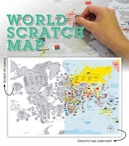 world scratch map tubed poster buy online in south africa. Black Bedroom Furniture Sets. Home Design Ideas