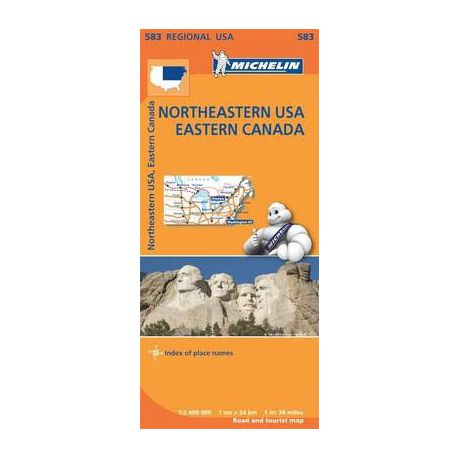 Buy Map Of Canada.Northeastern Usa Eastern Canada Michelin Regional Map 583