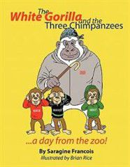 The White Gorilla and the Three Chimpanzees...a Day from the Zoo