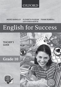 English for Success Grade 10 Teacher's guide CAPS
