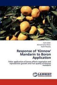Response of 'Kinnow' Mandarin to Boron Application