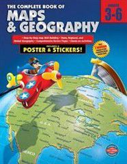 Complete Book of Maps and Geography, Grades 3 - 6 [With Poster]