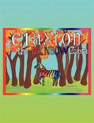 Clayton the Rainbow Zebra