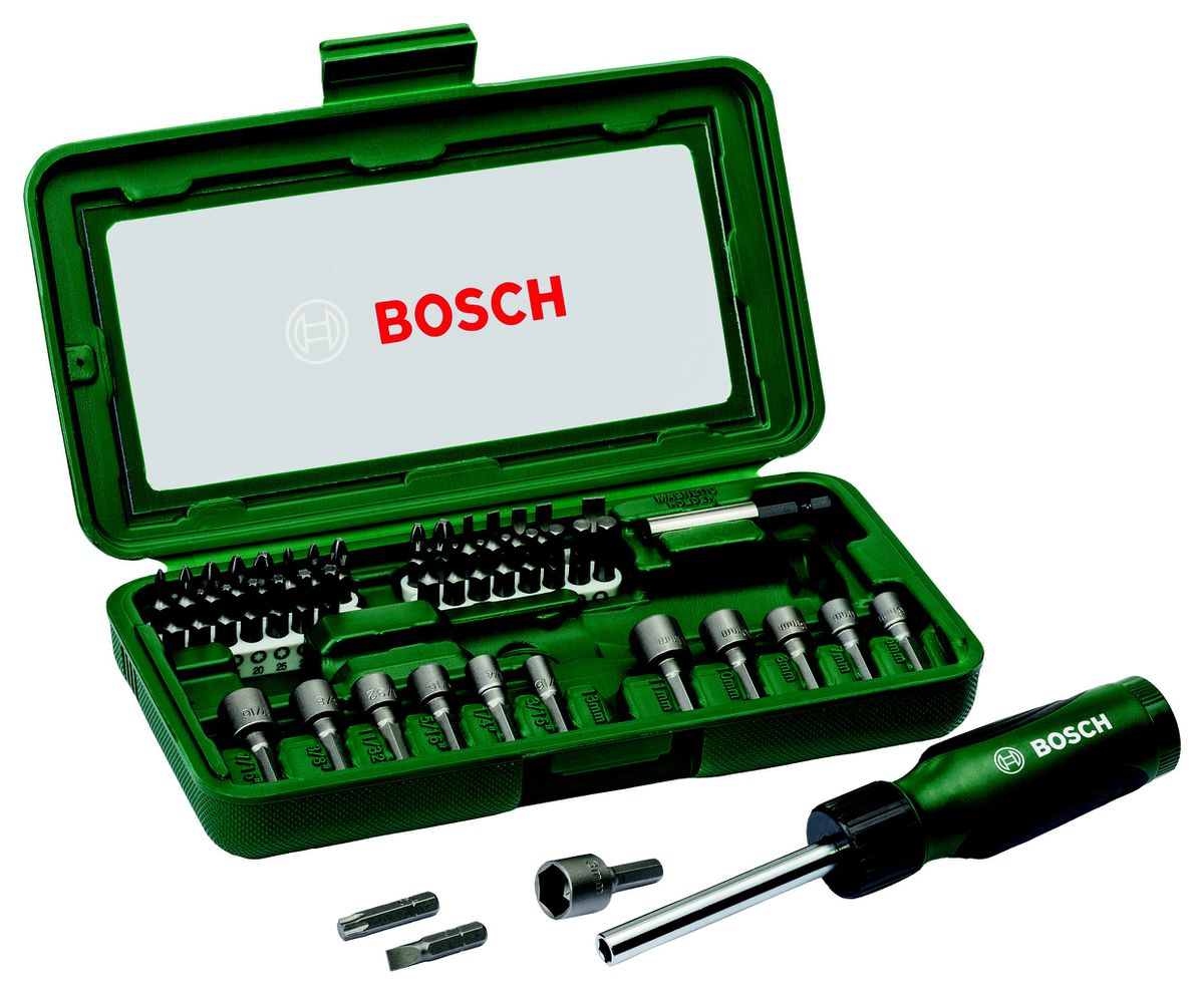 bosch ratchet socket drive bit set 46 piece buy online in south africa. Black Bedroom Furniture Sets. Home Design Ideas