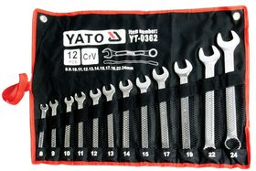 Yato - Spanner Combination Set - 12 Piece (8-24)
