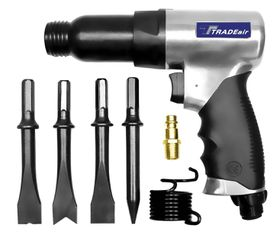 Tradeair - Chip Hammer Complete 4 Hex Fittings