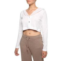 The Earth Collection Short Bolero with Hood in White
