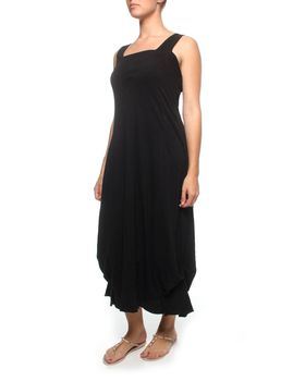 The Earth Collection Long Elegant Dress in Black