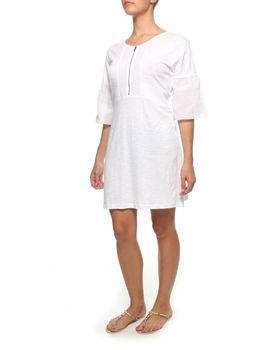 The Earth Collection Bohemian Tunic Dress - White