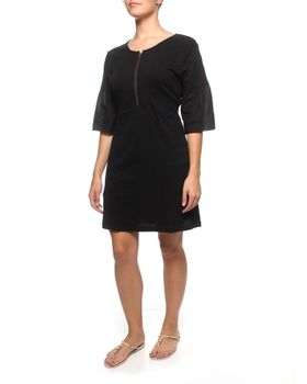 The Earth Collection Bohemian Tunic Dress - Black
