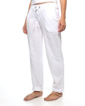 The Earth Collection Adjustable Pants - White