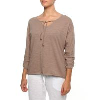 The Earth Collection 3/4 Sleeved Split Neck Top in Mali
