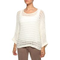 The Earth Collection 3/4 Sleeve Roomy Sweater in White