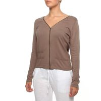 The Earth Collection Long Sleeve Zipped Cardigan in Off Mali