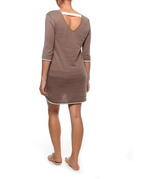 The Earth Collection 3/4 Dress with Neck Detail in Mali