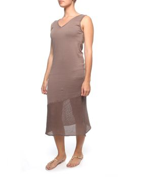 The Earth Collection Embellished Long Sleeveless Dress in Mali