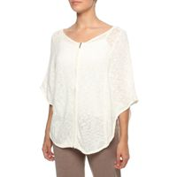 The Earth Collection Zipped Poncho - Off White