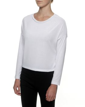 Straight Basics Long Sleeve Top in Winter White