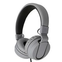 Polaroid Foldable Stereo Headphones With Inline Microphone - Black