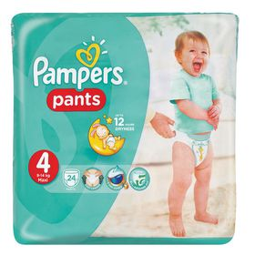 Pampers - Active Baby Pants 24 Nappies - Size 4 Carry Pack
