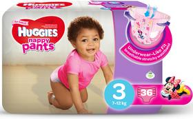 Huggies - Nappy Pants Girl - 36 - Size 3