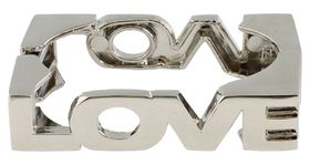Jewels and Lace Love Cuff in Silver
