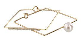 Fred Tsuya Square & Pearl Bracelet in Gold