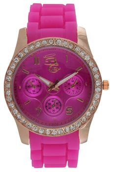 Bad Girl Round Show Girl Watch in Pink