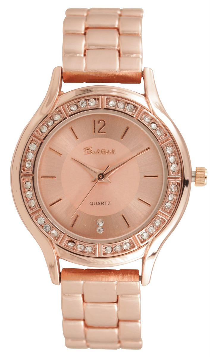 bad girl round eleganz watch in rose gold