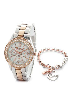 Bad Girl Set Rose Watch and Bracelet Set