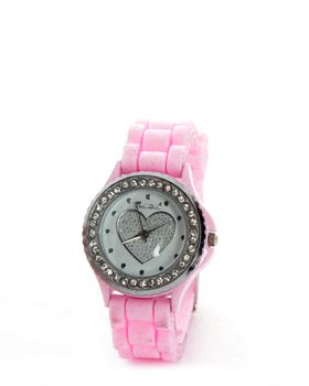 Bad Girl Round Trendsetter Watch in Pink
