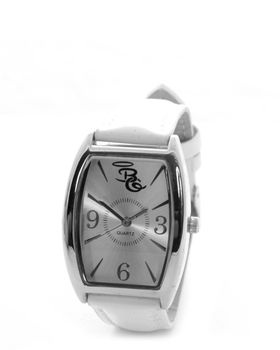 Bad Girl Oval Chic Watch in White