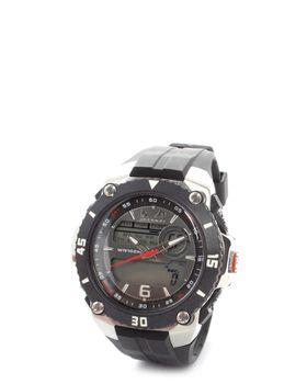 Bad Boy Round Ana-Digital 100m Water Resistant Watch in Black