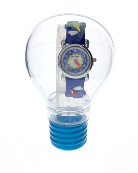 Cool Kids Boys Round 3-D - Jets Watch in Blue
