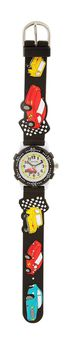 Cool Kids Boys Round Bezel Cars Watch in Black