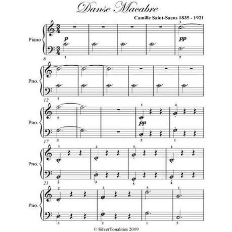 Iets Nieuws Danse Macabre Easy Piano Sheet Music (eBook) | Buy Online in South @ZK16