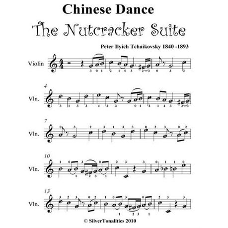 Chinese Dance The Nutcracker Suite Easy Violin Sheet Music Ebook