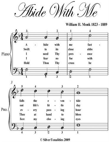 Abide With Me Easy Piano Sheet Music Ebook Buy Online In South