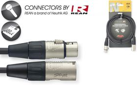 Stagg NMC3R 3M N-Series XLR Microphone Cable with Rean Connectors