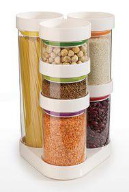Joseph Joseph - Food Store Jars Carousel - White