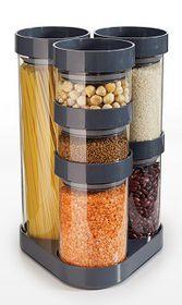 Joseph Joseph - Food Store Jars Carousel - Grey