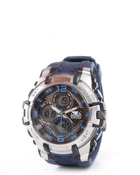 Bad Boy Ana-digital Watch in Navy and Silver