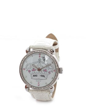 Bad Girl Crown Jewel Analogue Watch in Cream