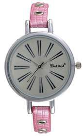 Bad Girl Gossip Analogue Watch in Silver and Pink